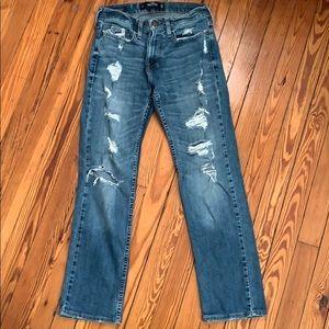 Hollister Medium Wash Distressed Jeans